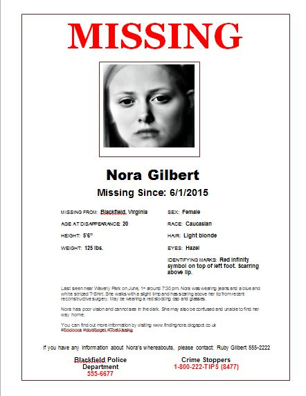 New Missing poster